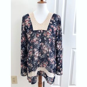 Urban Outfitters floral print blouse